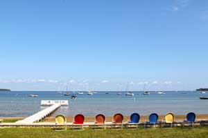 Eagle Harbor chairs and sailboats